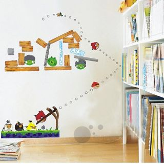 Removable DIY Angry Birds Wall Stickers Art Children Baby Kids Nursery