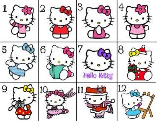 108 Hello Kitty Birthday Party Favors Hershey Kisses Labels