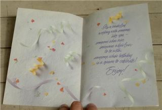 NEVER USED Vintage Happy Birthday Co Worker Greeting Card, GREAT COND