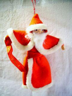 Vintage Santa Claus Ornament Italy Italia Hanging Felt Christmas Doll