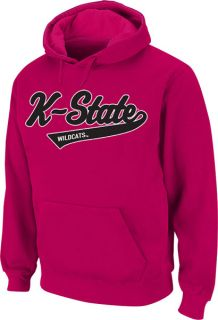 Kansas State Wildcats Womens Pink Twill Tailsweep Hooded Sweatshirt