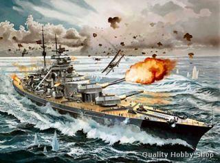 WW2 German Battleship Bismarck Skill 5 Plastic Model Kit 5040