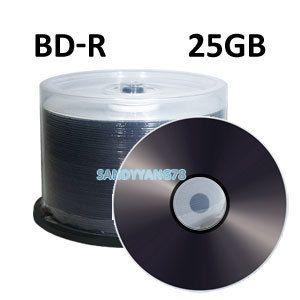 4X 25GB BD R Blue Blu Ray Blank Media Disc Discs Logo Top New