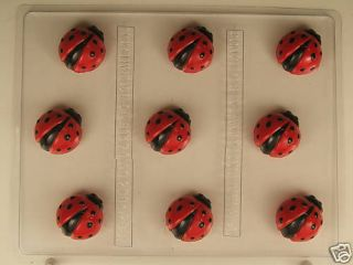 Cute Ladybug Bite Size Pieces Chocolate Candy Mold