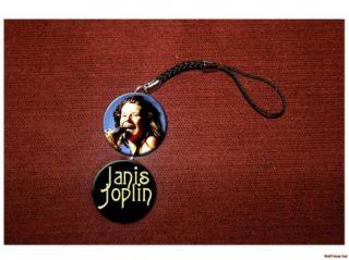 Janis Joplin singer songwriter blues rock legend cell / hanging charm