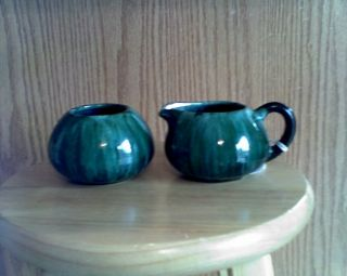 Blue Mountain Pottery Sugar and Creamer Set