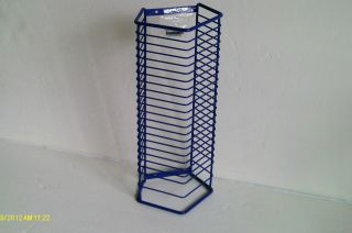 Purple Wire 24 CD Jewel Case Holder Storage Organizer 14H Wall Rack