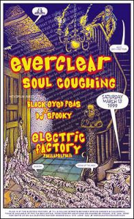 Black Eyed Peas Everclear 1999 Concert Poster Signed