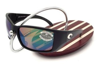Costa Del Mar Blackfin Black Green Mirror 580 Glass New