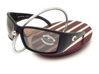 Costa Del Mar Blackfin Black Silver Mirror 580 Glass New