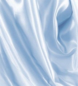 Per Yard 60 Light Blue Shiny Satin Fabric High Quality