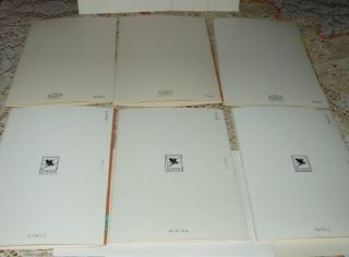 Assortment of Vintage Greeting Cards Unused with Envelopes in