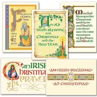 Celtic Christmas Blessings Collection Assorted Irish Christmas Cards