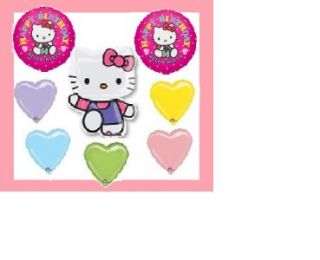 Hello Kitty Happy Birthday Balloons Party Supplies New