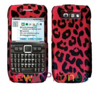 nokia e71 straighttalk hot pink leopard rubberized design cell phone