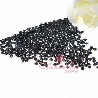 1000 Black Acrylic Rhinestone Diamond Confetti Table Scatter Wedding