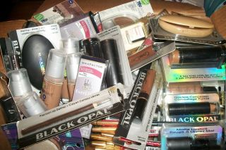 Mixed Salvage Makeup Lot , Name Brand Items Black Opal, Black Radiance