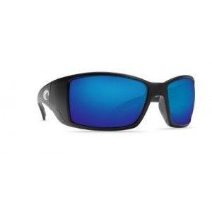 NEW Costa Del Mar Blackfin Black Frame with Blue Mirror Glass 580G BL