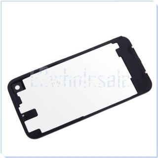 Black Clear Tempered Glass Back Cover Housing Replace for Apple iPhone