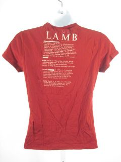 Lamb Red B Baby Definition Short Sleeve Tee Shirt Top S