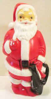 Empire Santa Claus 13 Blow Mold Plastic Christmas Light 1968 Works