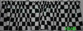 Black & White Checkered Flag Check Blocks NASCAR Race Boy Curtain
