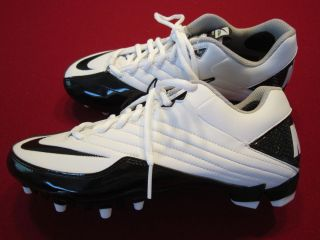 New Nike Super Speed TD Low Mens Football Cleats White Black