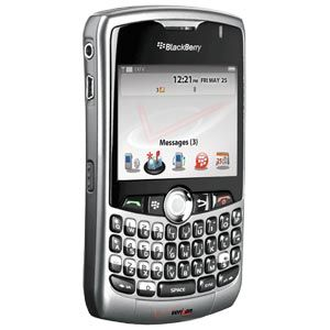 Rim Blackberry Curve 8330 Verizon Silver PDA Cell Phone