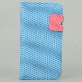 Blue Ball Pattern leather Case Card Pouch for Samsung Galaxy S3