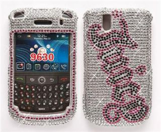 Blackberry Bold 9650 9630 Case Rhinestone Bling Cover Silver Pink Hard