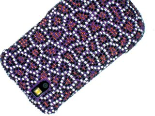 Rhinestone Bling Case Cover Blackberry Tour 9630 Purple