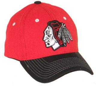 Chicago Blackhawks NHL Hockey Jumbotron Red Flex Fit Fitted Hat Cap M