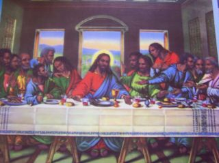 African American Black Art The Last Supper