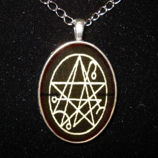 Necronomicon Necklace Pendant Black Magic Occult