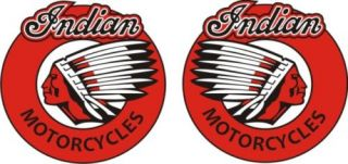 Indian Motorcycle Stickers Decals Red White Black N