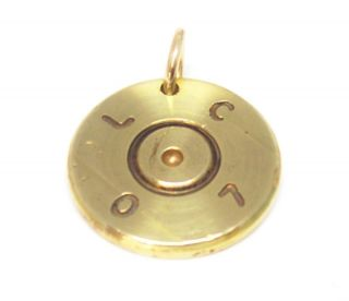 50 BMG Cal Bullet Necklace Pendant MA Deuce Military