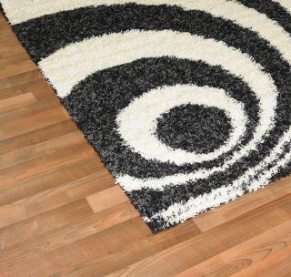 area rug black white modern royal shag 5 x7 area size 5x8 as