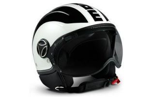 White Pearl Glossy Black Black Scooter Motorcycle Helmet Medium
