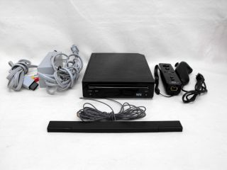 Black Nintendo Wii Game System Console RVL 101 w Accessories