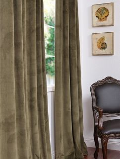 Hunter Green Pole Pocket Velvet Blackout Curtains Drapes