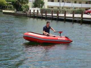 Video of Saturn Inflatable SS260 with 55 lbs electric motor.