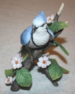 Lenox Female Blue Jay Fine Porcelain Figurine Garden Birds Collection