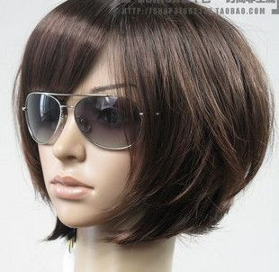 Hot Sell New Fashion Short Dark Brown Bob Womens Wig W162