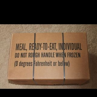 FACTORY SEALED MRE CASE A MILITARY MEALS READY TO EAT DATE 05 2014