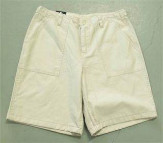 Bill Blass Mens White Khaki Shorts Sz 32 33 34 36 Retail $62