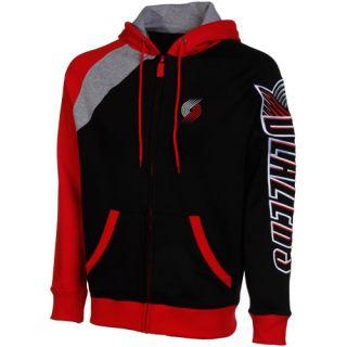 Portland Trail Blazers Carve Full Zip Hood Black Red Gray