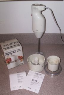 Braun Immersion Blender Mixer 6  Speed Commercial Quality & Chopper