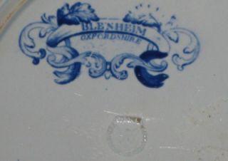 Antique Blue Staffordshire Cabinet Plate ca. 1830s Blenheim