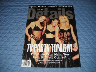 Details Magazine Yasmine Bleeth Alyssa Milano PETA Wilson October 1997