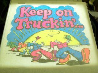 Robert R Crumb 1967 Keep on Truckin t shirt iron on transfer Near Mint
